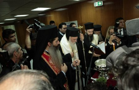 Ο Αρχιεπίσκοπος στα εγκαίνια του Νέου Γραμμικού Επιταχυντή στο Νοσοκομείο «Άγιος Σάββας»