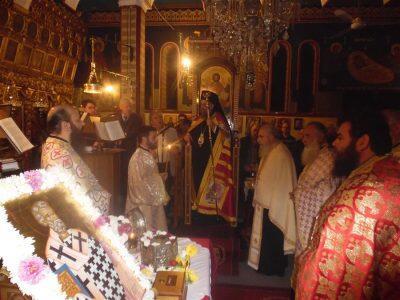 Πλήθος πιστών προσκύνησαν την Τιμία Κάρα του Αγίου Γρηγορίου Ακραγαντίνων στον Ιερό Ναό Αγίας Τριάδος Δαφνοσπηλιάς