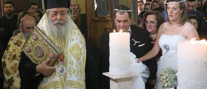 Το γάμο ενός νέου ζευγαριού ευλόγησε ο Φθιώτιδος Νικόλαος