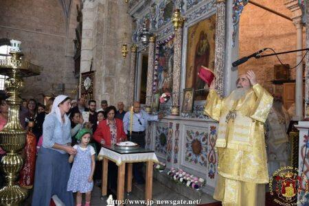 Λαμπρά Εορτάσθηκε η Μετακομιδή του Λειψάνου του Αγίου Γεωργίου στο Πατριαρχείο Ιεροσολύμων