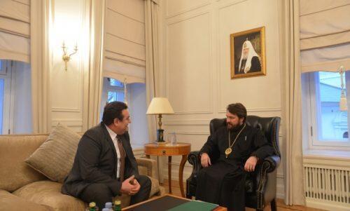 Με τον Πρέσβη της Ρουμανίας στη Ρωσία συναντήθηκε ο Μητροπολίτης Ιλαρίωνας