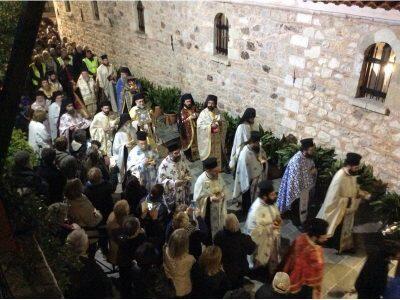 Χιλιάδες πιστοί στη Μονή Οσίου Δαυΐδ
