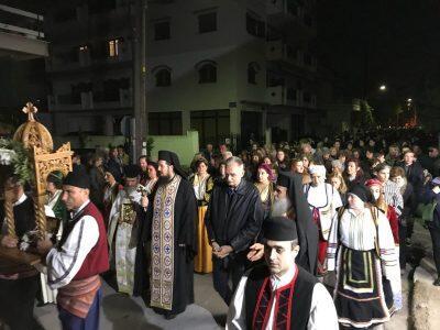 Λάρισα: Πλήθος κόσμου στη Λιτανεία του Αγίου Νεκταρίου