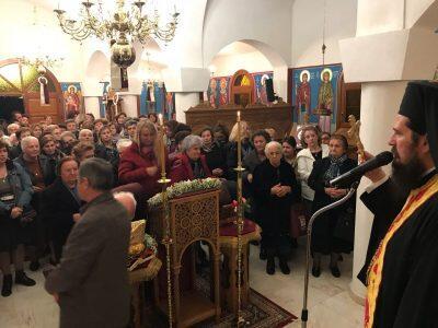 Πλήθη πιστών στο Μοναστήρι του Πυργετού για τον Άγιο Νεκτάριο