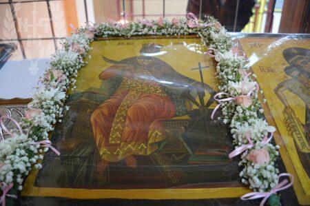 Αρχιερατική Θεία Λειτουργία στο «Ναό» της Αγίας Αικατερίνης στο 3ο Δημοτικό Σχολείο Σταυρούπολης