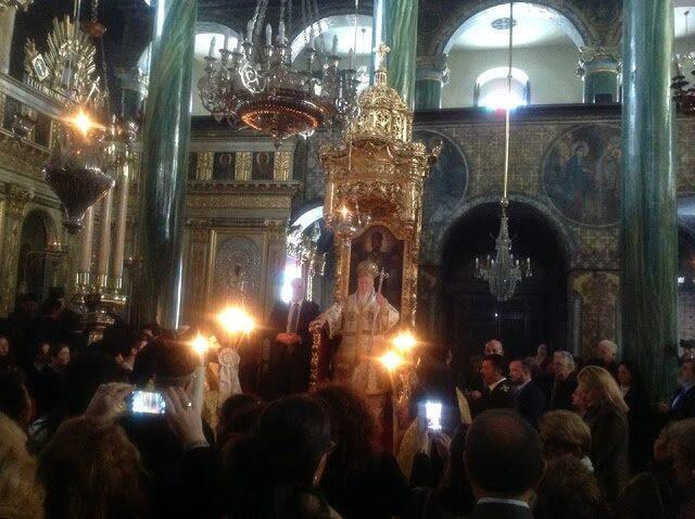 Η σημερινή Πατριαρχική Λειτουργία στο Πέραν (ΦΩΤΟ)