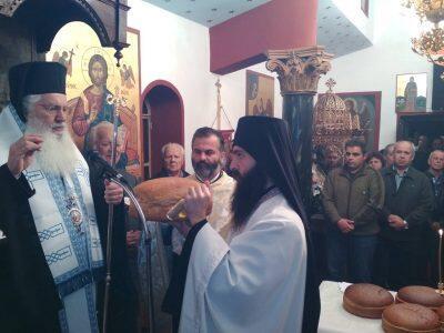 Μητρόπολη Θηβών: Εσπερινός στο Παρεκκλήσιο του Αγίου Μηνά Δαύλειας