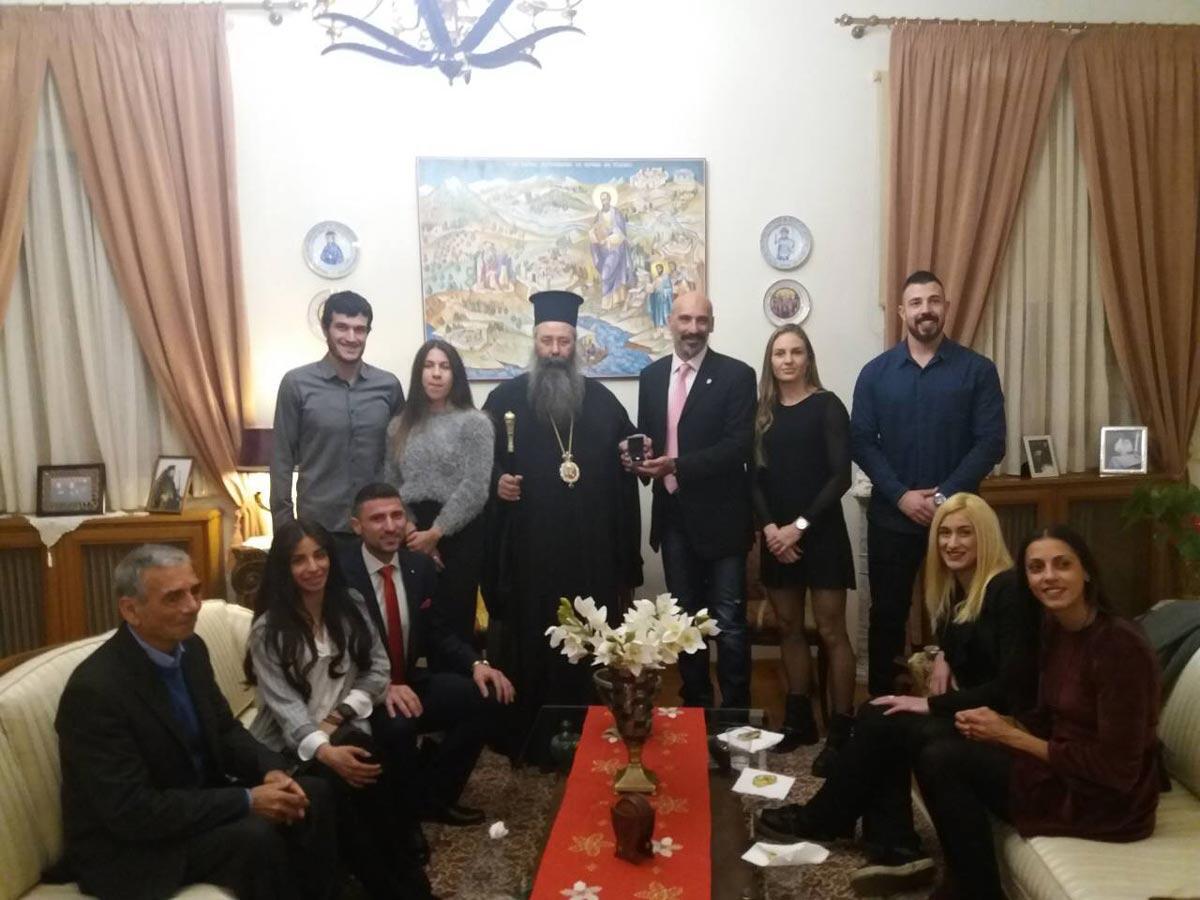 Επίσκεψη Πρωταθλητών Στίβου στο Επισκοπείο Κατερίνης
