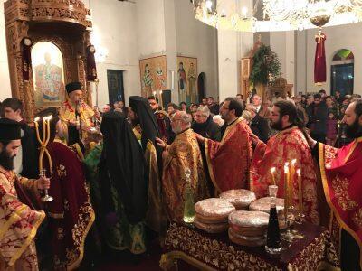 Με λαμπρότητα τιμάται ο πολιούχος του Τυρνάβου Άγιος Γεδεών