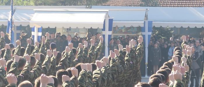 Φθιώτιδος Νικόλαος και Πάνος Καμμένος στην Τελετή Ορκωμοσίας των Νεοσυλλέκτων της 2017 ΣΤ΄ ΕΣΣΟ