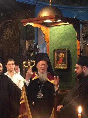 Στον Ιερό Ναό στο Καράκιοϊ (Βατοπαιδινό Μετόχι) ο Οικουμενικός Πατριάρχης