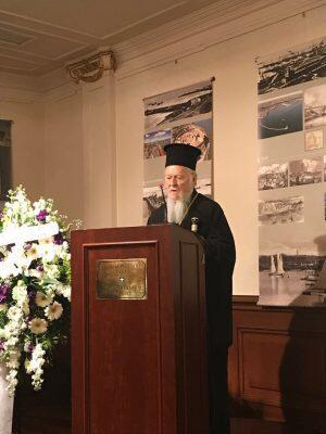 Στο φιλολογικό Μνημόσυνο για τον αείμνηστο Δ. Φραγκόπουλο ο Οικουμενικός Πατριάρχης