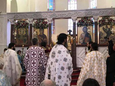 Κοσμοπλημμύρα σήμερα στη Θεία Λειτουργία για τον Άγιο Πορφύριο