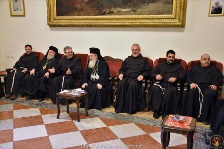 Επίσκεψη των Αγιοταφιτών στο Λατινικό Πατριαρχείο
