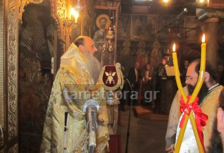 Για πρώτη φορά ο Μετεώρων Θεόκλητος στον βυζαντινό Ναό Κοιμήσεως της Θεοτόκου Καλαμπάκας