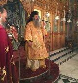 Ο Μετεώρων Θεόκλητος στο Ναό του Αγίου Βησσαρίωνος ανήμερα των Χριστουγέννων