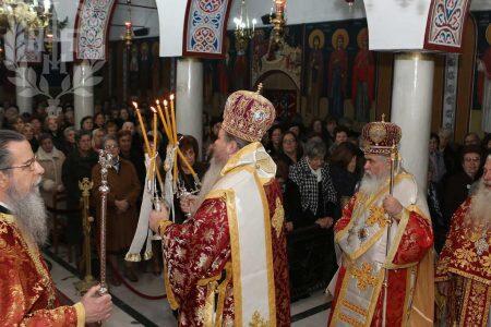 Μητρόπολη Νεαπόλεως: Αρχιερατικό Συλλείτουργο και Δοξολογία στον Ιερό Ναό Αγίας Βαρβάρας «Παύλου Μελά»