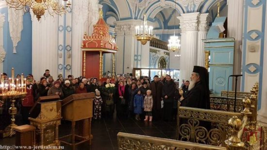Συμμετοχή του Ιεροσολύμων Θεοφίλου στους εορτασμούς της Ρωσικής Εκκλησίας