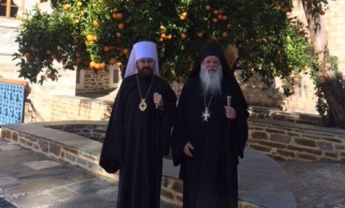 Στο Άγιο Όρος ο Μητροπολίτης Ιλαρίωνας