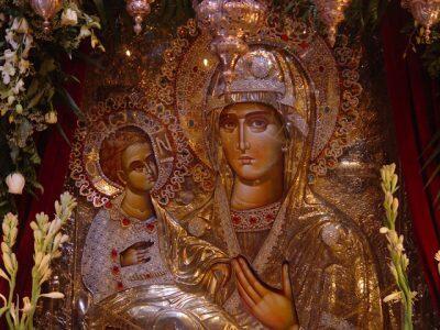 Ιερά Αγρυπνία για την Παναγία την Τριχερούσα αύριο στη Μονή Προφήτη Ηλία