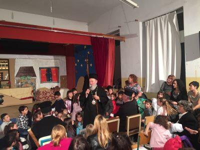 Συγκινημένος στο Σχολείο που φοίτησε ως μικρός μαθητής ο Χαλκίδος Χρυσόστομος
