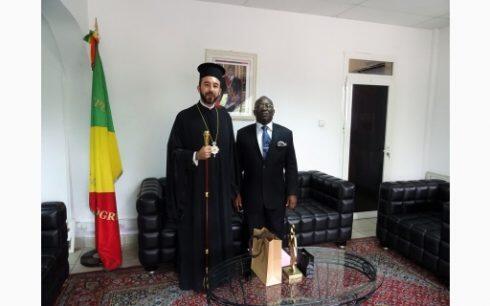 Συνάντηση του Μητροπολίτη Μπραζαβίλ και Γκαμπόν με τον Κυβερνήτη του Pointe-Noire