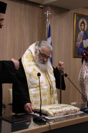 Ο Εδέσσης Ιωήλ ευλόγησε την βασιλόπιτα της ενορίας Αγ. Γεωργίου Γιαννιτσών