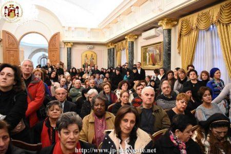 Η κοπή της Βασιλόπιτας στο Πατριαρχείο Ιεροσολύμων