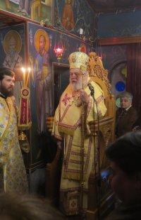 Στο εορτάζον Ιερό Παρεκκλήσιο της Οσίας Ξένης ο Σύρου Δωρόθεος