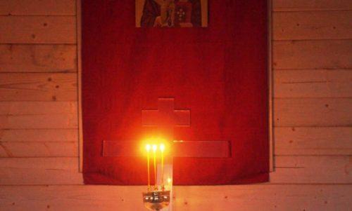 Πρώτη θεία ακολουθία στο παρεκκλήσιο Αγίου Νικολάου Ρέικιαβικ