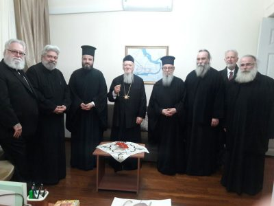 Οικουμενικός Πατριάρχης και Συνοδικοί σε δείπνο στην κοινότητα Βλάγκας