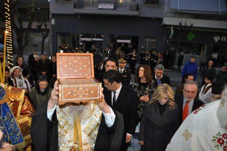 Αγρίνιο: Υποδοχή αποτμήματος Ιερού Λειψάνου Αγίου Γεωργίου