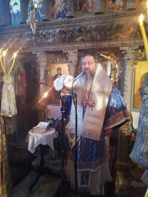 Εμβάδα ευλογημένη στο ιερό σκήνωμα του Αγίου Διονυσίου στη Μονή Προδρόμου στο Λιβάδι Καρυάς