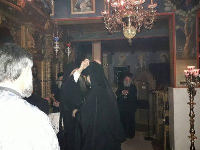 Ρασοφορία νέου Μοναχού στη Μονή Αγίου Γεωργίου Μαυρομματίου
