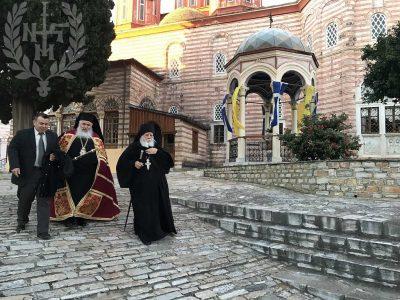 Άγιο Όρος: Το Προσκύνημα του Σεβασμιωτάτου Νεαπόλεως Βαρνάβα