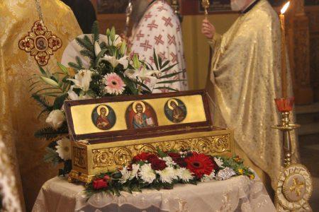 Με λαμπρότητα τιμήθηκε η μνήμη του Αγίου Νικηφόρου του Λεπρού στη Μητρόπολη Καστελλίου