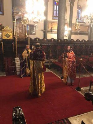 Στο Φανάρι χοροστάτησε σήμερα ο Μητροπολίτης Κυδωνιών Αθηναγόρας