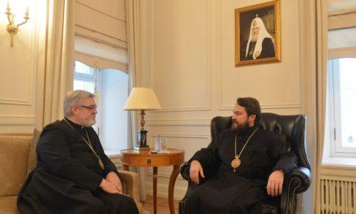 Με Επίσκοπο της Εκκλησίας της Αγγλίας συναντήθηκε ο Μητροπολίτης Ιλαρίωνας