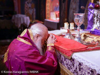 Πρώτη Προηγιασμένη Θεία Λειτουργία από τον Βεροίας Παντελεήμονα