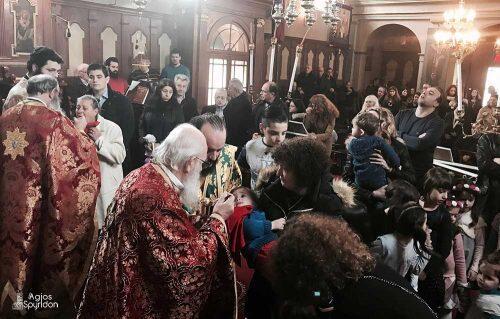 Κυριακή του Ασώτου στη Μητρόπολη Κερκύρας-Χειροθεσία Αναγνώστου