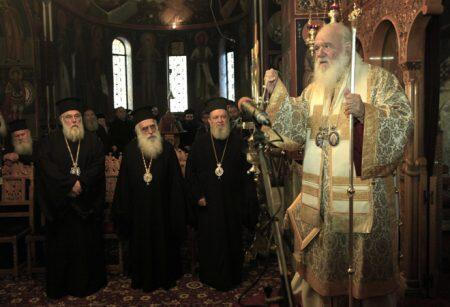 Τιμήθηκε η μνήμη του Αγίου Φώτιου στην Μονή Κοιμήσεως της Θεοτόκου Πεντέλης