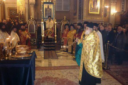 Μητροπολιτικός Ναός Αθηνών: Εσπερινός Αγίας Φιλοθέης