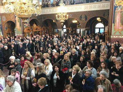 Κυριακή της Ορθοδοξίας: Κοσμοπλημμύρα στον Άγιο Αχίλλιο