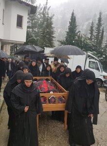 Συγκίνηση στην Εξόδιο Ακολουθία της Ηγουμένης Ιεράς Μονής Γκούρας