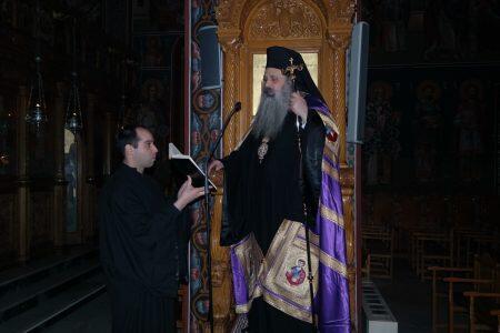 Πρώτη προηγιασμένη Θ.Λειτουργία στον Ι.Μ.Ν. Αγ.Βησσαρίωνος