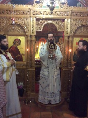 Αρχιεπίσκοπος και Θεσπιών Συμεών στην Ι. Μονή Αγίων Θεοδώρων Βοιωτίας