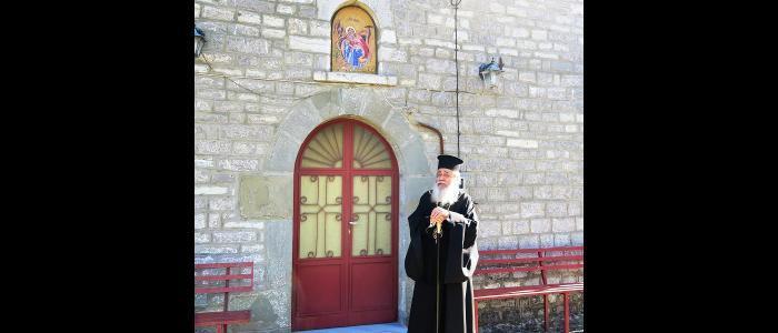 Ο Φθιώτιδος Νικόλαος στην Μονή Προφήτου Ηλιού Παλαιοχωρίου