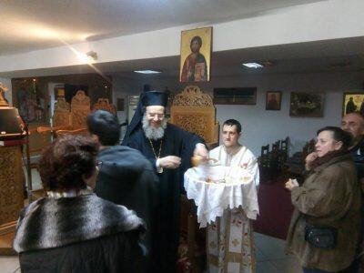 Τελευταία Εορτή του Οσίου Αυξεντίου χοροστατούντος του Ιερισσού Θεοκλήτου