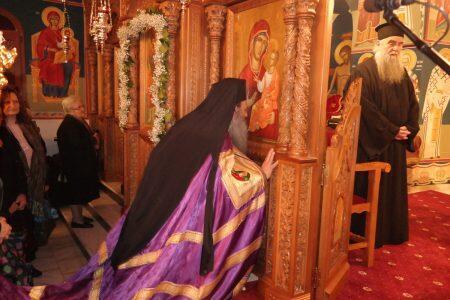 Ο Μετεώρων Θεόκλητος στην Α Στάση των Χαιρετισμών στον Ι.Μ.Ν.Αγ. Βησσαρίωνος