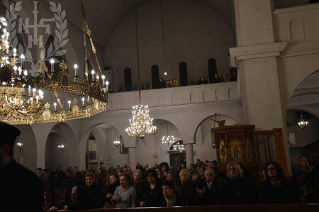 Ο Νεαπόλεως Βαρνάβας στον Β΄ Κατανυκτικό Εσπερινό στον Ιερό Ναό Αγίων Κωνσταντίνου και Ελένης Ηλιουπόλεως